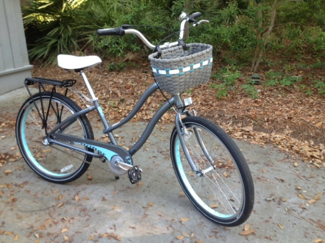 Custom Bicycle Basket Gray