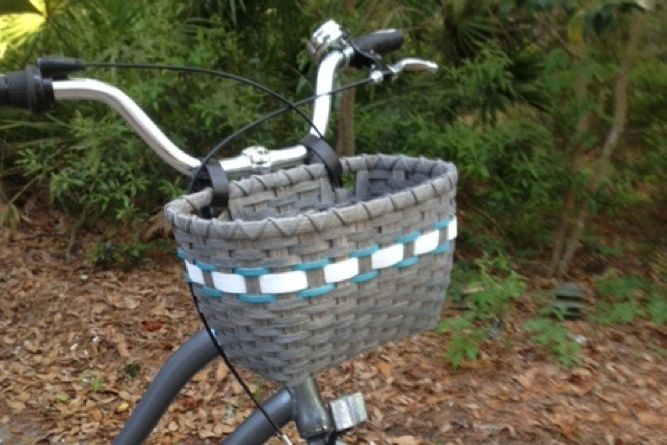 Custom Gray Bicycle Basket