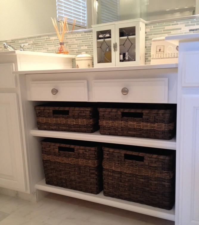 Custom Bathroom Vanity Baskets