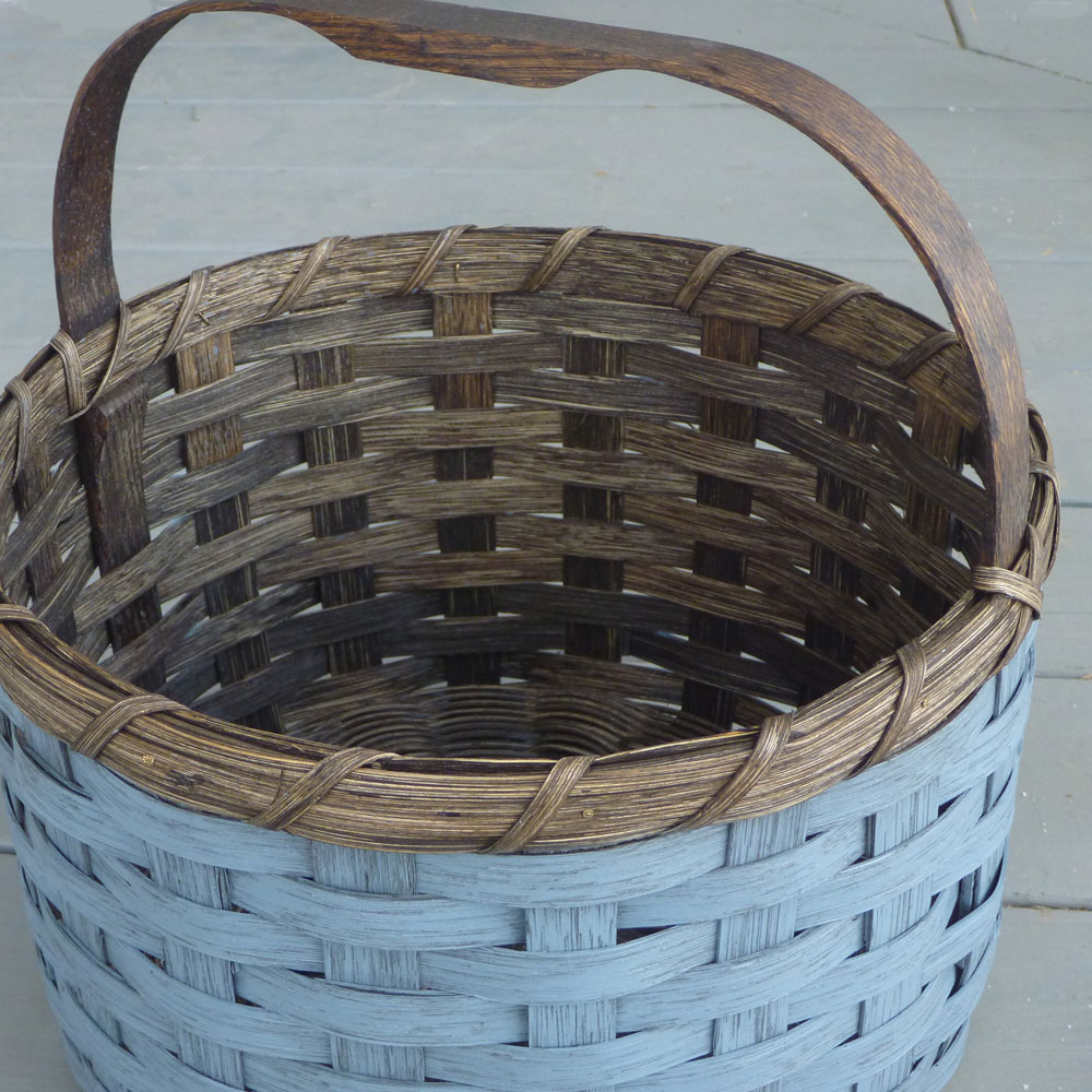 Painted Round Basket