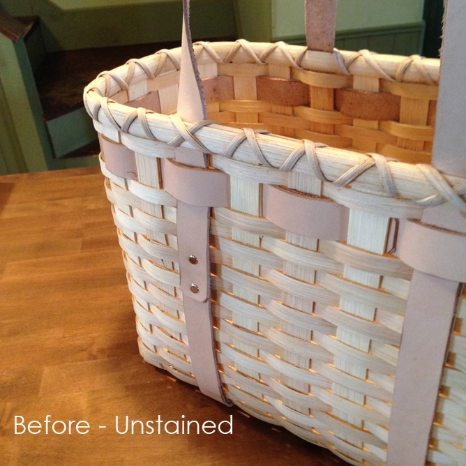 Unstained basket