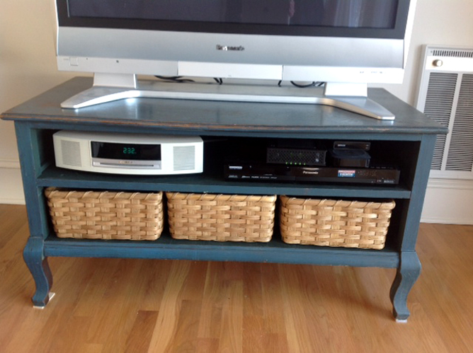 Entertainment Stand Custom Storage Baskets Joanna S Collections