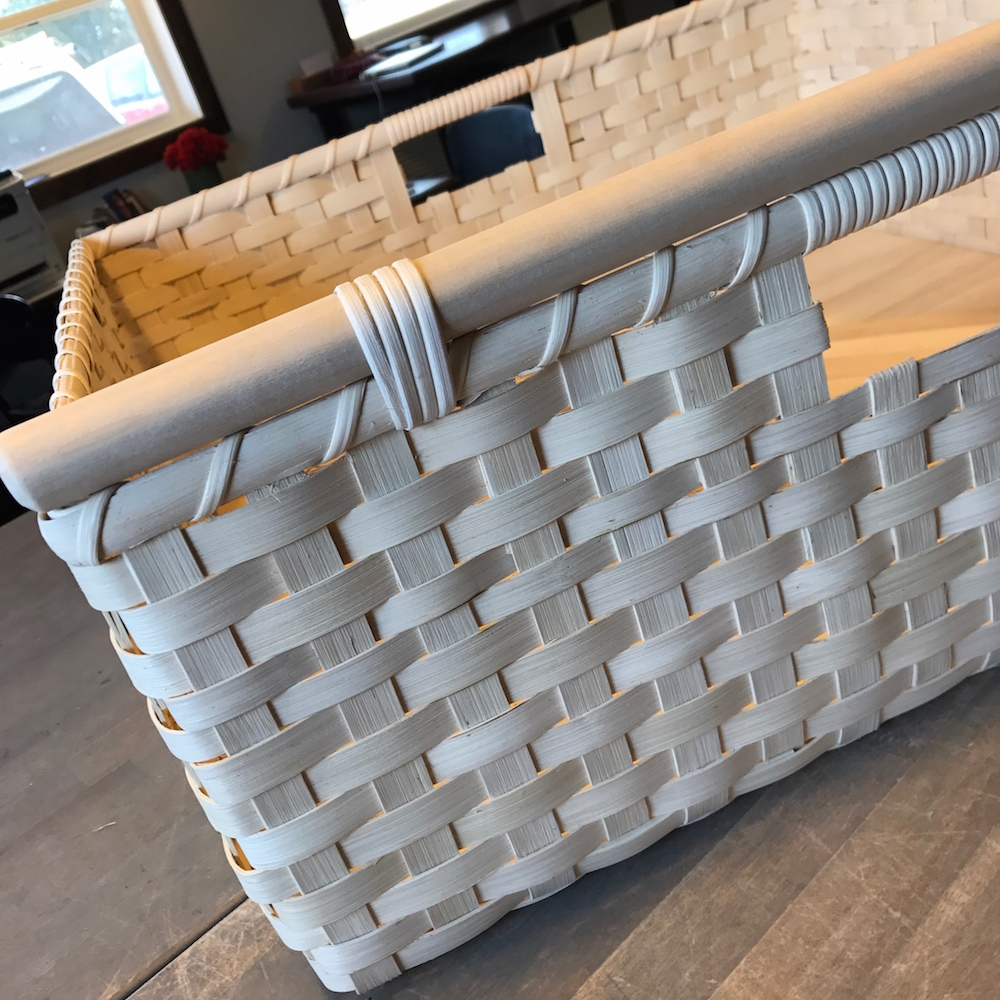 Unstained custom basket