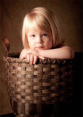 My Granddaughter in a Basket