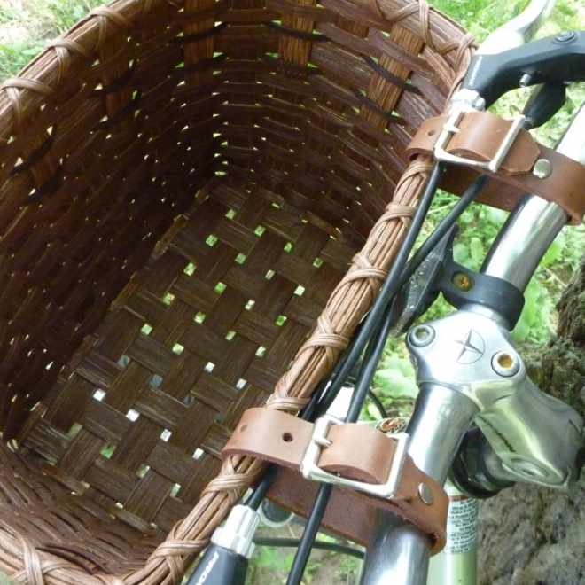 Bicycle Basket - Leather Straps