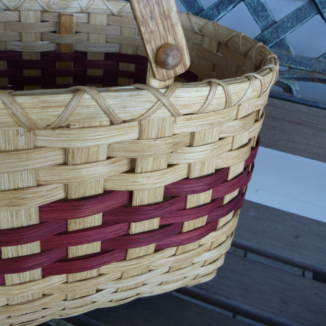 Double Swing-Handled Tote Basket