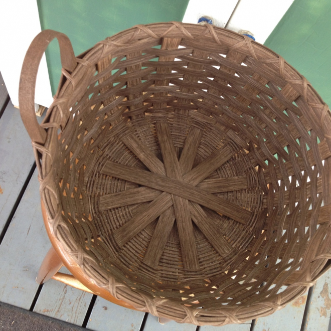 Footed Wool Basket