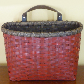 Large Painted Mail Basket