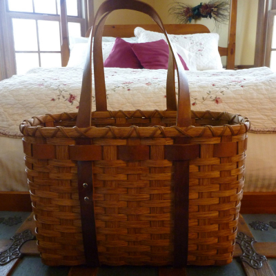 Leather Handled Tote Basket Weaving Class