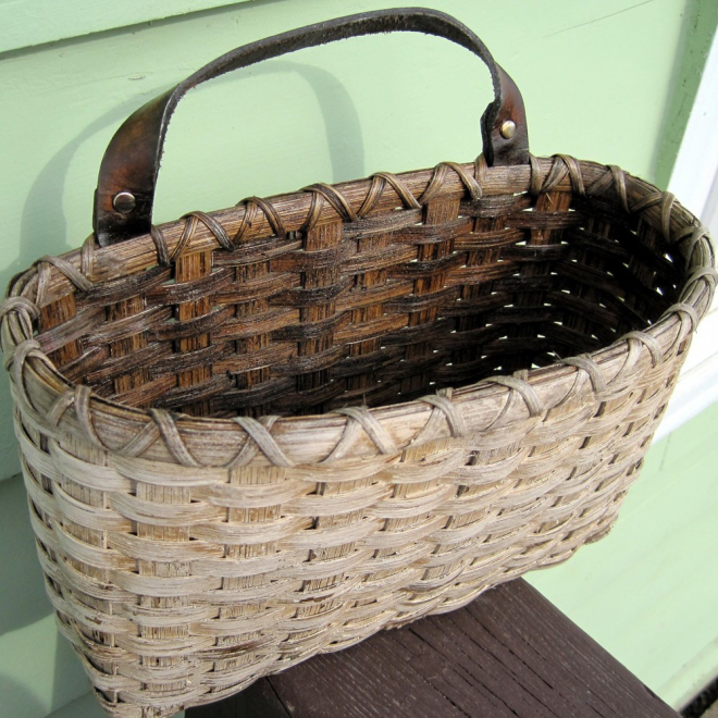 Painted Mail Basket