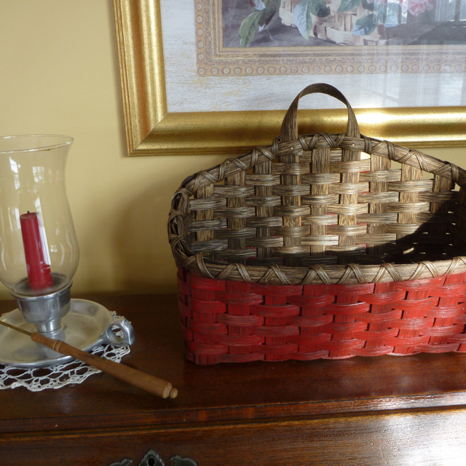 Painted Wall Basket