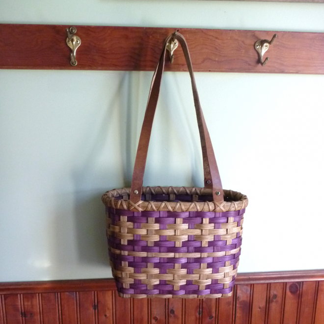 Plaid Tote Basket