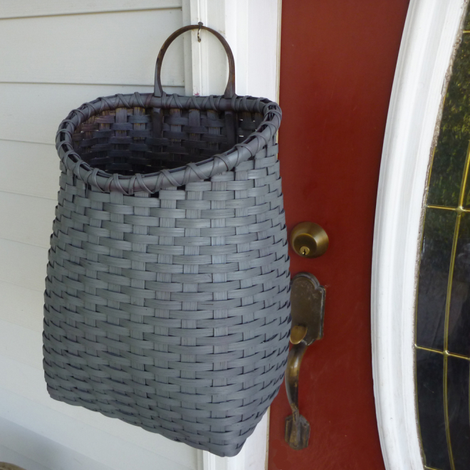 Painted Primitive Front Porch Basket