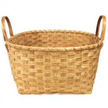 Square-to-Round Storage Basket