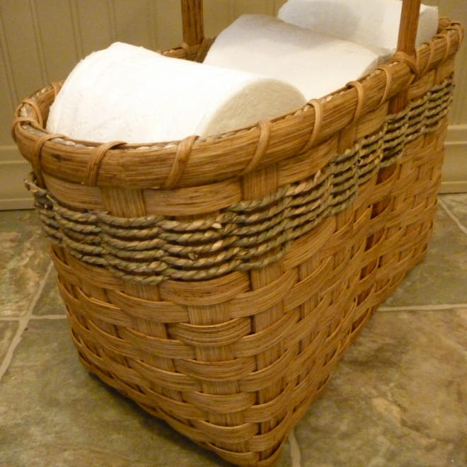toilet paper tote basket joanna 39 s collections country home basketry. Black Bedroom Furniture Sets. Home Design Ideas