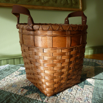 Wooden Bottom Waste Basket