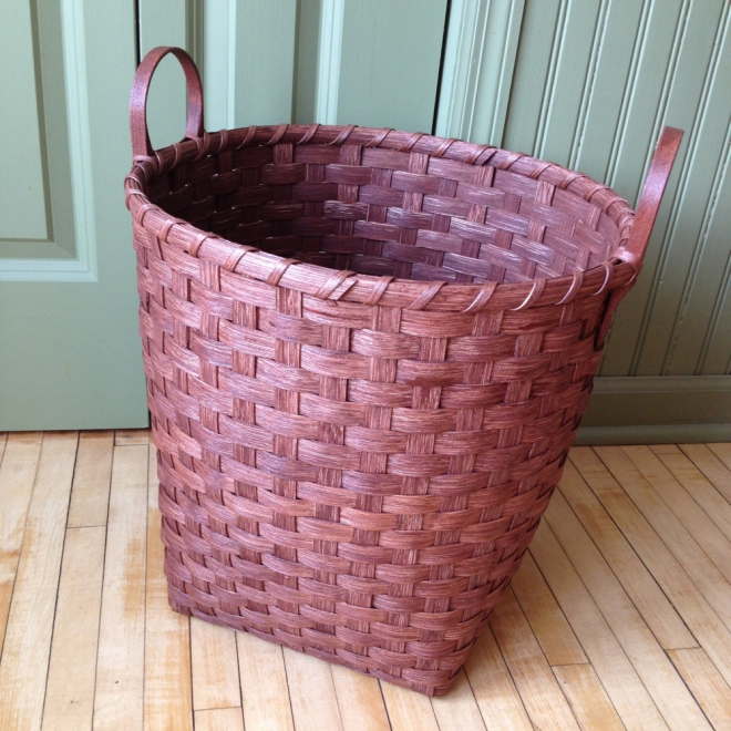 Wooden Bottom Toy Basket