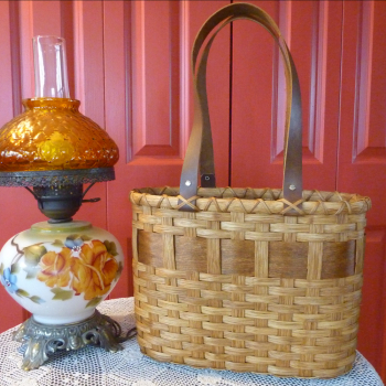 Wooden Bottom Tote Basket